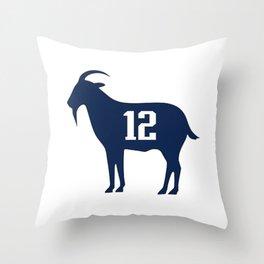 Goat Tom Brady Throw Pillow