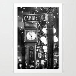 Cambie St Art Print