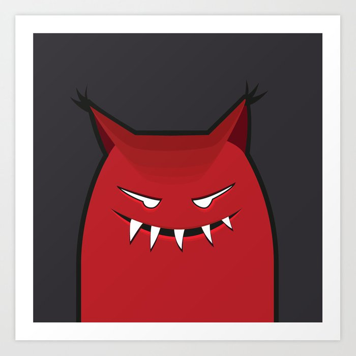 Evil Monster With Pointy Ears Art Print