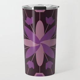 Purple Flower Explosion Travel Mug