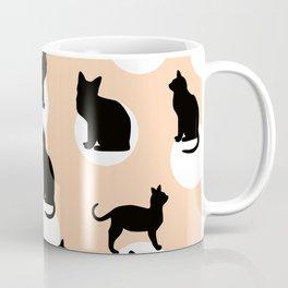 Bubble Cats (Peach) Coffee Mug