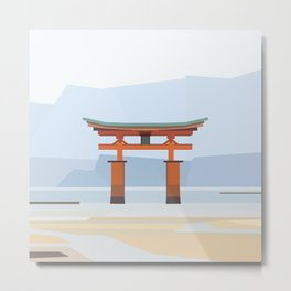 Floating torii, Itsukushina Shrine, Japan Metal Print