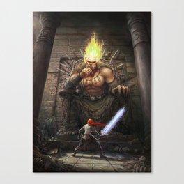 Nath Dragon faces The Titan Eckubahn Canvas Print