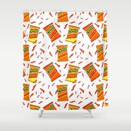 Flamin' Hot Cheetos illustration Shower Curtain