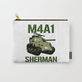 M4A1 SHERMAN Tank Military US 2 World War Tanks Carry-All Pouch