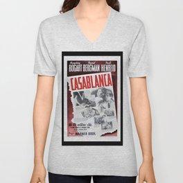 Vintage Casablanca Movie Poster Lithograph Wall Art Unisex V-Neck