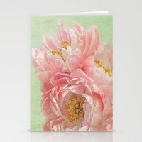 peonies Stationery Cards featuring Peonies by Lizzy Pe