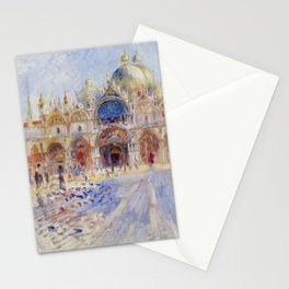 Auguste Renoir - The Piazza San Marco in Venice Stationery Cards