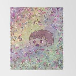 Happiest Little Hedgehog Throw Blanket
