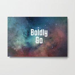 Boldly Go Metal Print