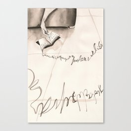Sleeping Letters  Canvas Print