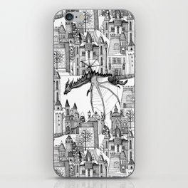 Dragon Kingdom Winter Toile iPhone Skin