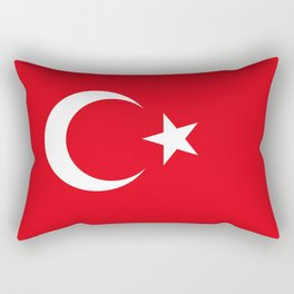 National flag of Turkey, Authentic color & scale Rectangular Pillow