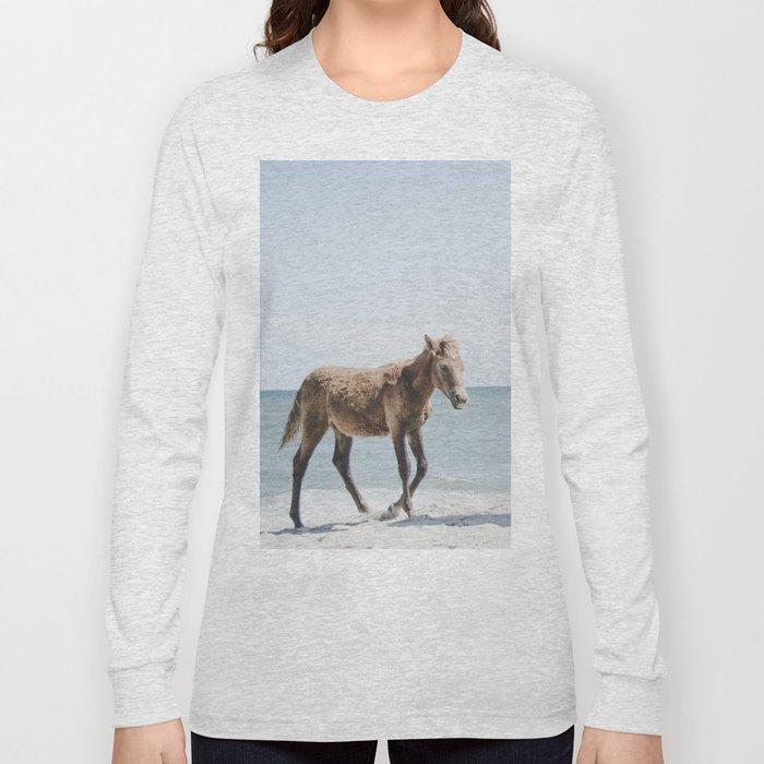 Horse Horse beach Long Sleeve T-shirt