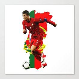 CR7 Ronaldo Portugal Canvas Print