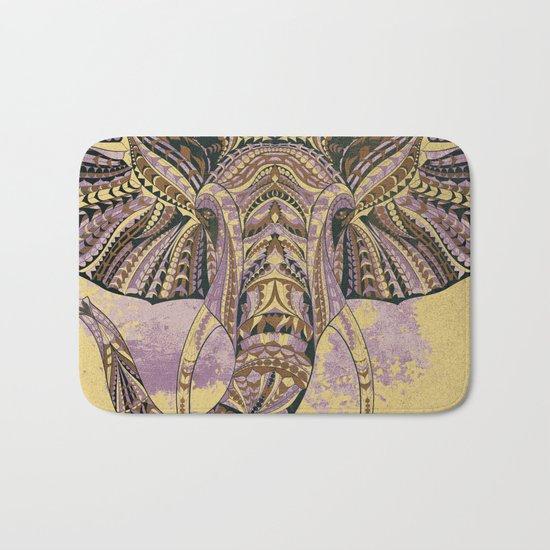 Grunge Ethnic Elephant Bath Mat