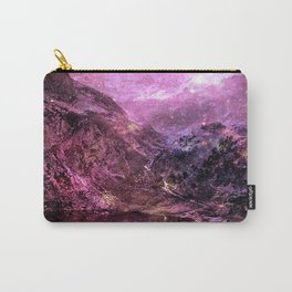 Galaxy Mountains. Burgundy Purple Carry-All Pouch