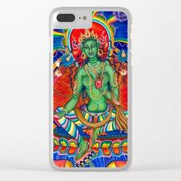 Green Tara Clear iPhone Case