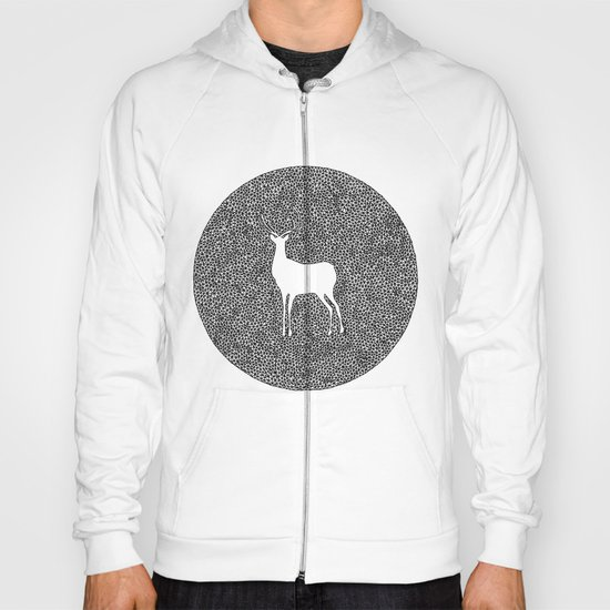 Deer Mandala 2 black-white Hoody