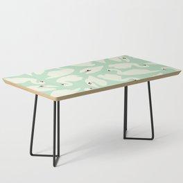Mint Swan Seamless Pattern 028 Coffee Table