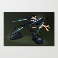 matrix Canvas Prints featuring Matrix by alexviveros.net