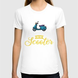 Moped Scooter Gift Motor Rider T-shirt