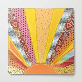 Sun Patterns Metal Print