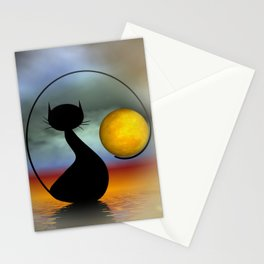 mooncat's evening Stationery Cards
