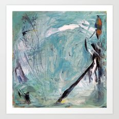 Bowerbird Nest (oil on canvas) Art Print