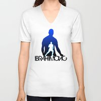 zlatan V-neck T-shirts featuring Zlatan Ibrahimovic by Sport_Designs