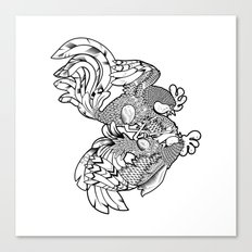 Rooster BW Canvas Print