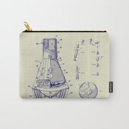 1966 NASA Apollo Mercury Space Capsule Patent Carry-All Pouch