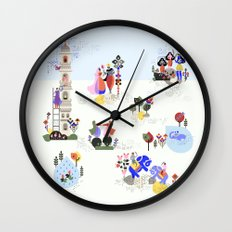 Indian miniature interpreted Wall Clock