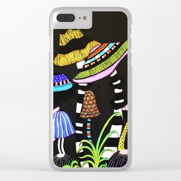 Majestic Mushrooms Clear iPhone Case