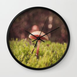 Forest of Moss and Mushroom Wall Clock