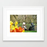 hats Framed Art Prints featuring Hats by Linda Kalaj
