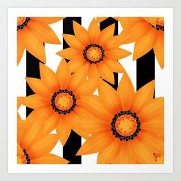 Yellow sunflowers . Art Print