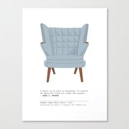 Papa Bear Chair Canvas Print