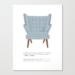 Papa Bear Chair Canvas Print