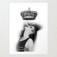 mercedes Art Prints featuring Colección Reina Mercedes by Reina Mercedes