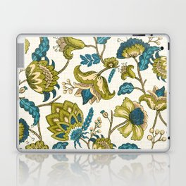 Green and Blue Indian Floral Laptop & iPad Skin