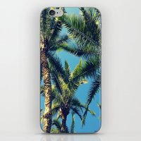 palm tree iPhone & iPod Skins featuring Palm Tree by Jillian Stanton