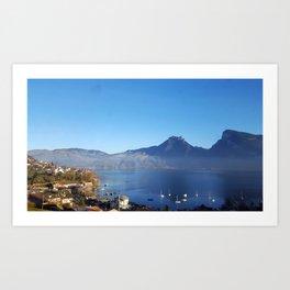 Lakeside Switzerland Art Print