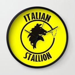 Italian stallion rocky Wall Clock