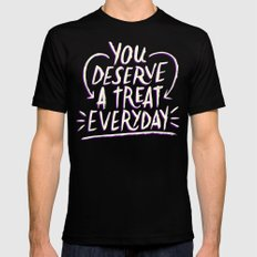 A Treat Everday Black Mens Fitted Tee MEDIUM