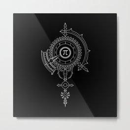 Pi Gauge Metal Print