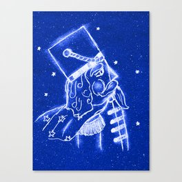 Nutcracker in Bright Blue Canvas Print