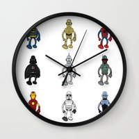 bender Wall Clocks featuring Bender meets - Series 1 by Andy Whittingham