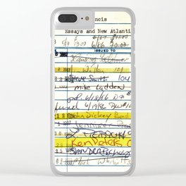 Library Card 5478 The New Atlantis Clear iPhone Case