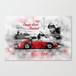 Fangio drives M 250F Canvas Print